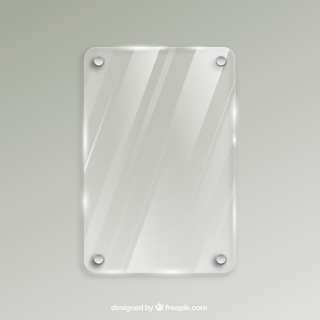 Frame de vidro em estilo realista Vetor grátis