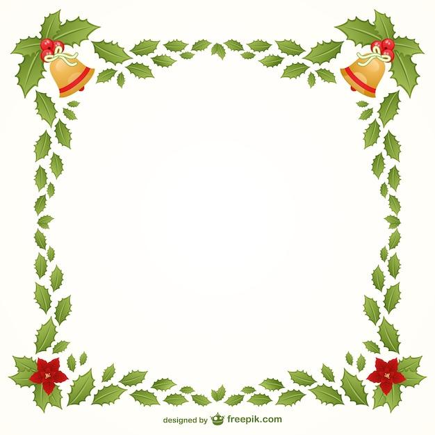 Frame do natal Vetor grátis