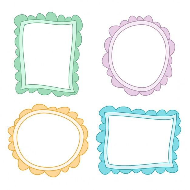 Frames coloridos desenhos Vetor grátis
