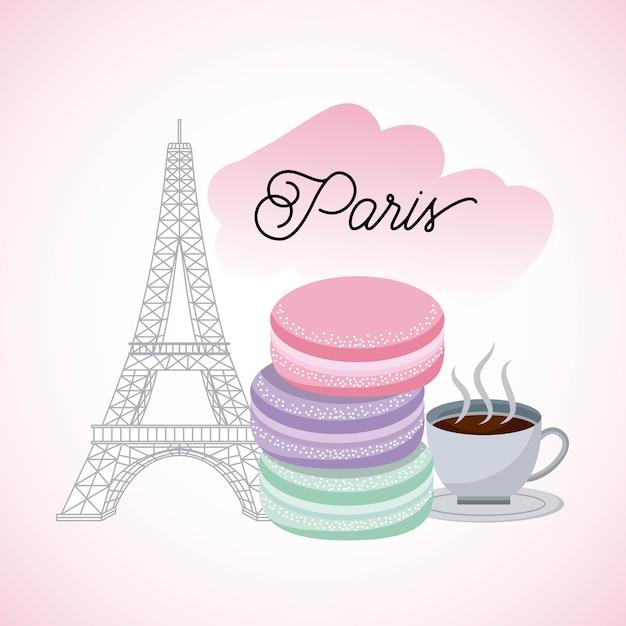 França paris cartão Vetor Premium