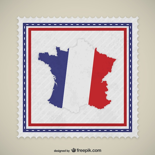 França selo Vetor grátis