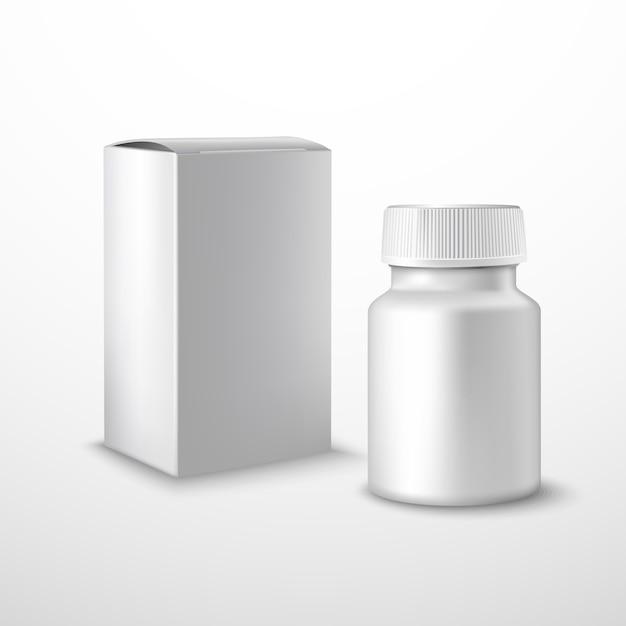 Frasco de medicamento em branco Vetor grátis
