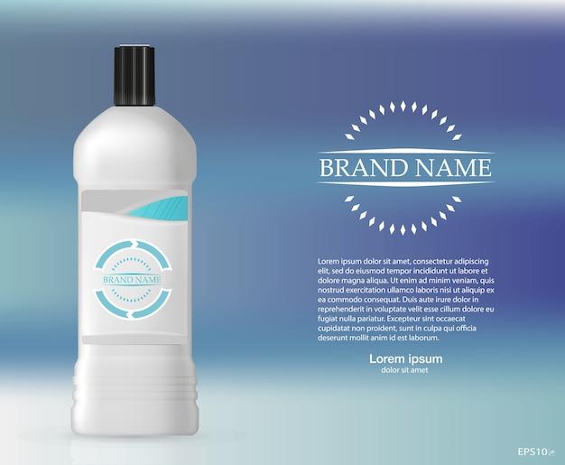 Frasco de shampoo Vetor Premium