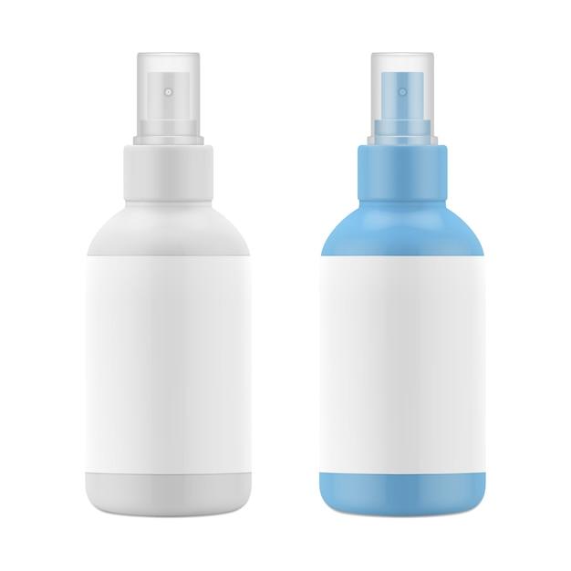 Frasco plástico fosco, spray para cosméticos Vetor Premium
