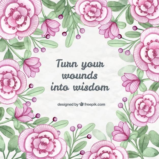 Frase Com Flores Sobre Transformar A Má Experiência