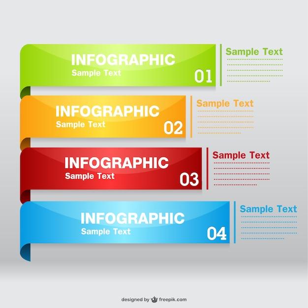 Free vector infográfico brilhante Vetor grátis
