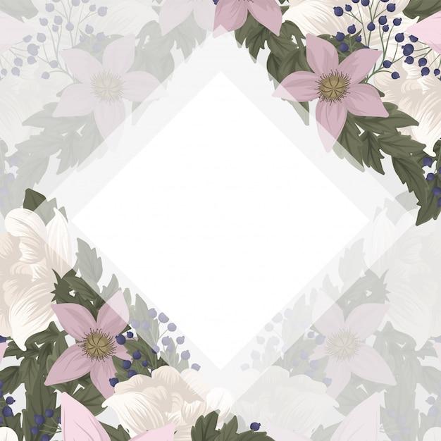 Fronteira de desenhos de flores - flores cor de rosa Vetor grátis