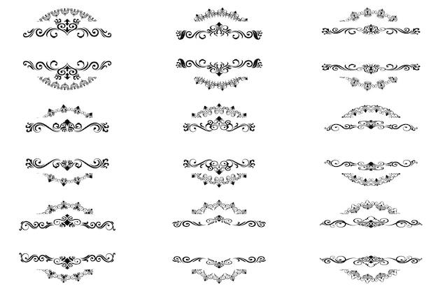 Fronteira vintage de ornamento clássico Vetor Premium