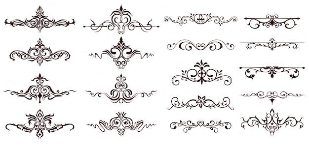 Fronteiras ornamentais Vetor Premium