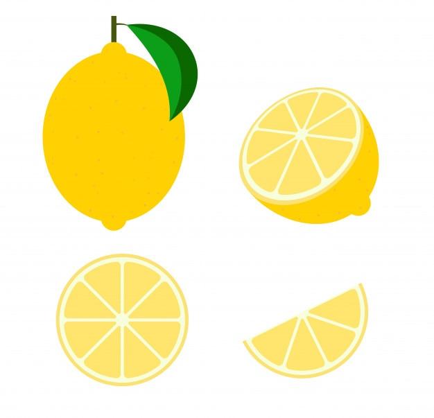 Fruta fresca de limão vector Vetor Premium