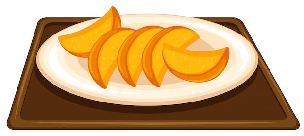 Fruta no prato Vetor grátis