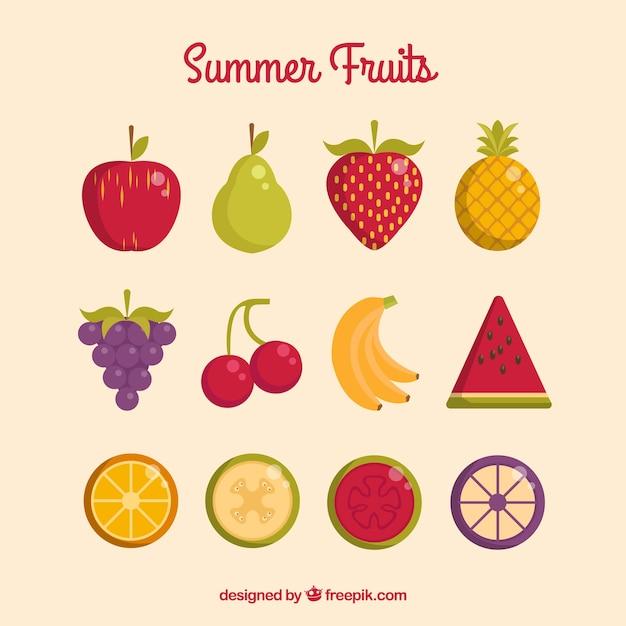 Frutas bonitas do verão Vetor grátis