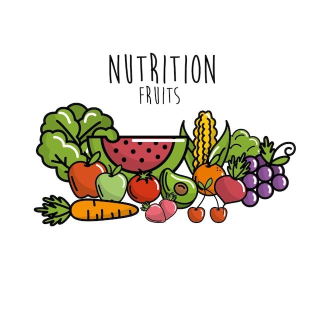 0d40cb51c Frutas e legumes com alimentos protéicos