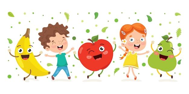 Frutas Frescas Para Uma Alimentacao Saudavel Vetor Premium