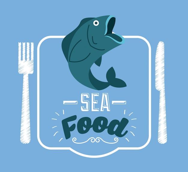 Frutos do mar Vetor Premium