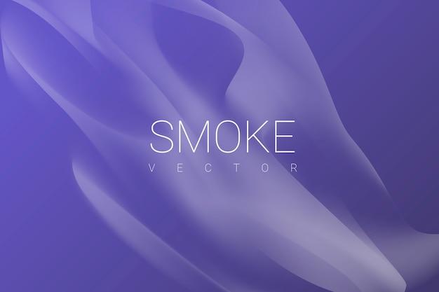 Fumaça no fundo roxo Vetor grátis