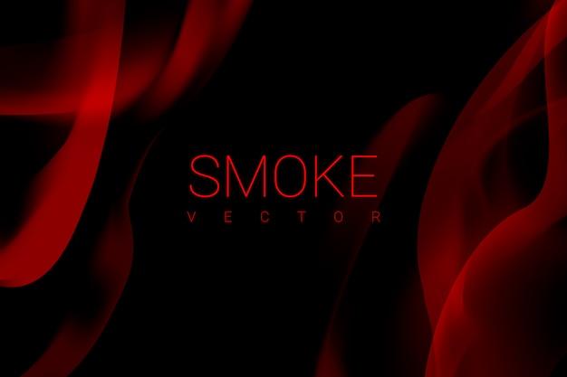 Fumo em fundo preto Vetor grátis