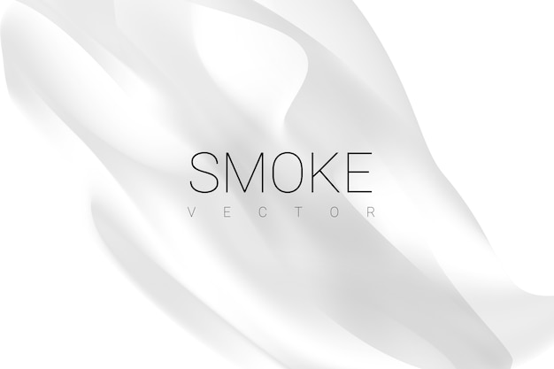Fumo no fundo branco Vetor grátis
