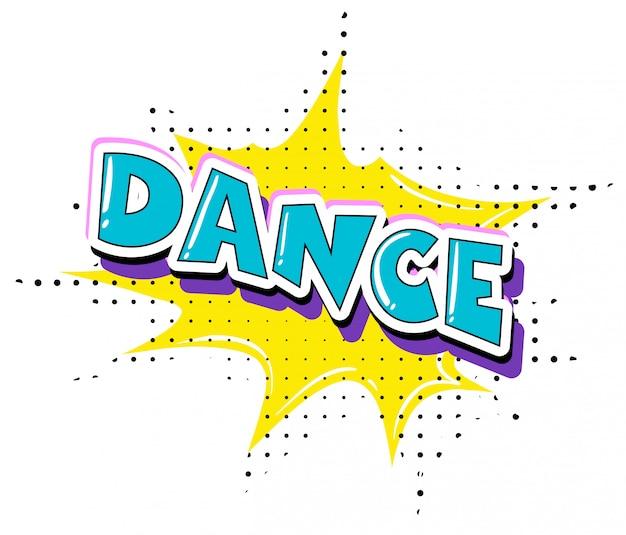 Fun retro dance text Vetor grátis