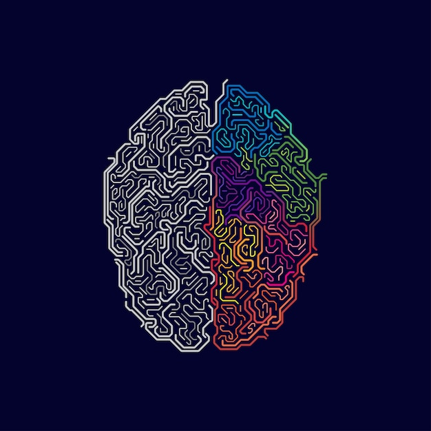 Funções cerebrais Vetor Premium