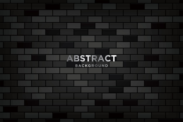 Fundo 3d abstrato com brickwalls escuros realistas Vetor Premium