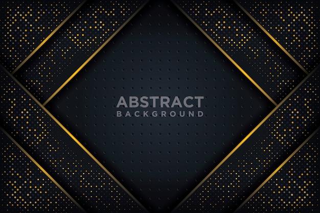 Fundo 3d abstrato com uma combinação de pontos luminosos no estilo 3d. Vetor Premium