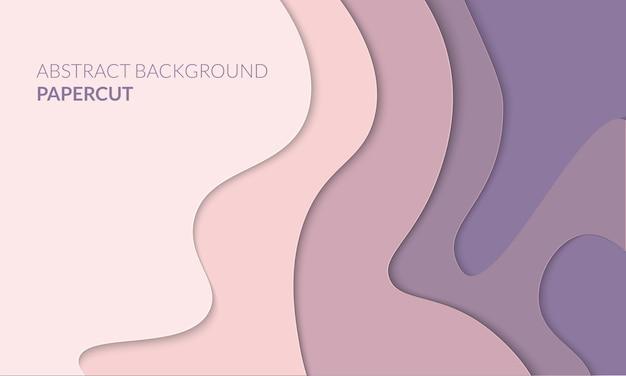 Fundo 3d papercut abstrato Vetor Premium