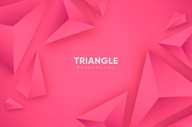 Fundo 3d rosa com triângulos Vetor grátis
