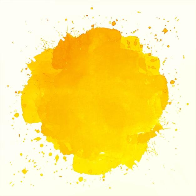 Fundo abstrato aquarela respingo laranja Vetor grátis