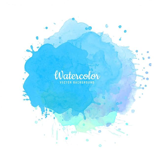 Fundo abstrato azul aquarela respingo Vetor grátis