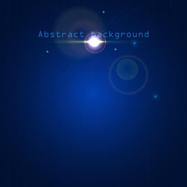 Fundo abstrato azul com efeitos de luz e linhas Vetor Premium