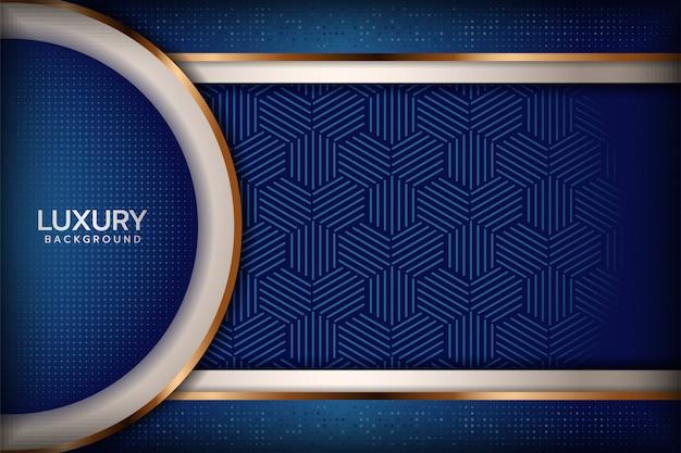 Fundo abstrato azul royal Vetor Premium