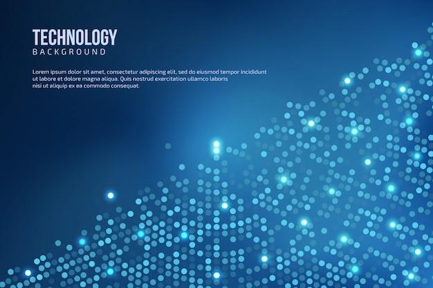 Fundo abstrato azul tecnologia com espaço para texto Vetor Premium