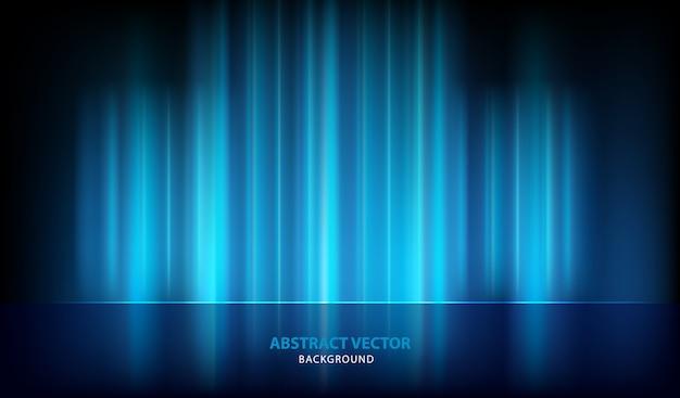 Fundo abstrato azul vector luz Vetor Premium