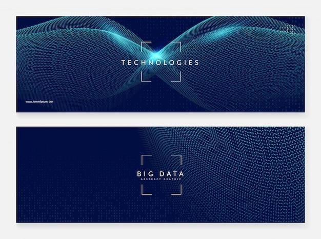 Fundo abstrato banner digital. artificial Vetor Premium
