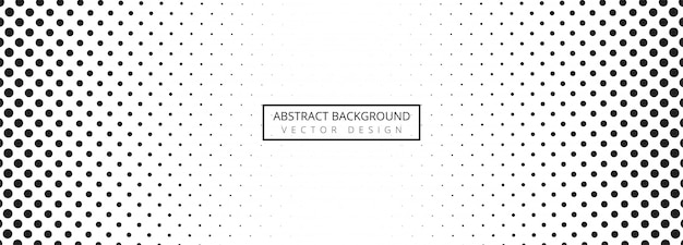 Fundo abstrato banner pontilhado preto e branco Vetor grátis