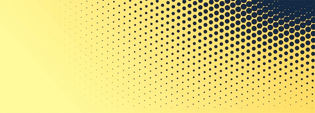 Fundo abstrato banner pontilhado preto e dourado Vetor grátis
