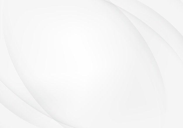 Fundo abstrato branco e prateado Vetor Premium