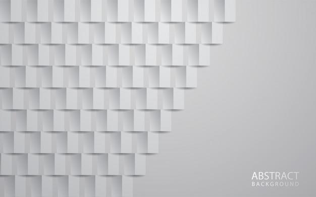 Fundo abstrato branco textura 3d papel arte estilo Vetor Premium