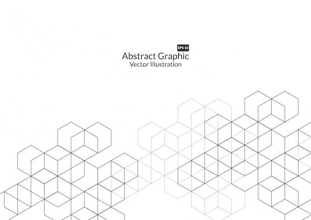 Fundo abstrato caixas. tecnologia moderna Vetor Premium