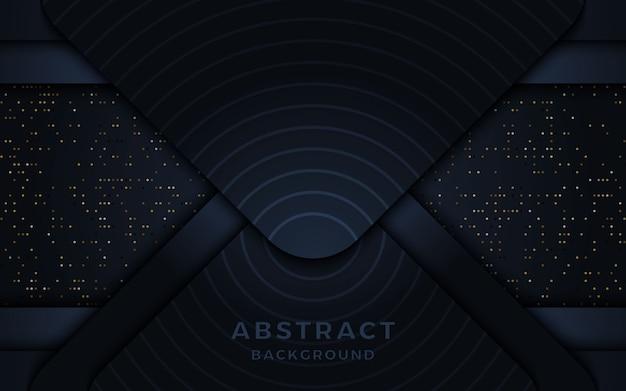 Fundo abstrato camada escura com pontos. Vetor Premium