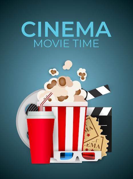 Fundo abstrato cinema em casa. ilustração Vetor Premium