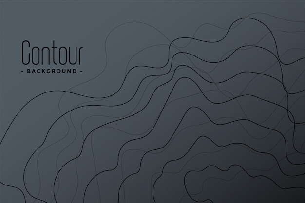 Fundo abstrato cinza linhas de contorno Vetor grátis