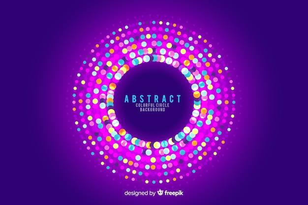 Fundo abstrato círculos com cores de guirlanda redonda Vetor grátis