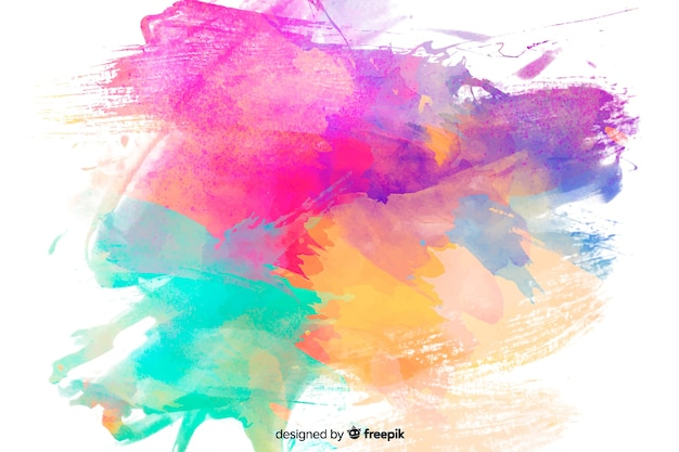 Fundo abstrato colorido aquarela mancha Vetor grátis