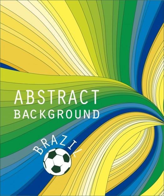 Fundo abstrato colorido do brasil Vetor grátis