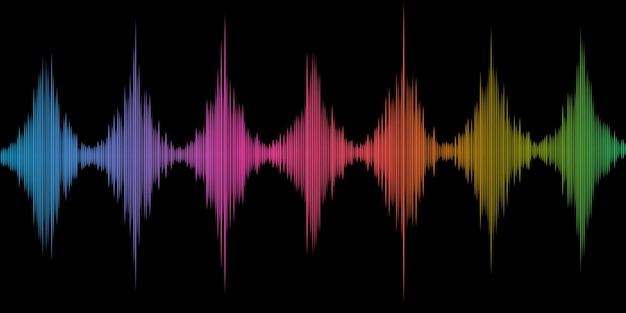 Fundo abstrato com design de ondas sonoras coloridas Vetor grátis
