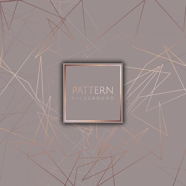 Fundo abstrato com design de ouro rosa Vetor grátis