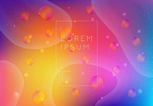 Fundo abstrato com diferentes cores e linhas Vetor Premium