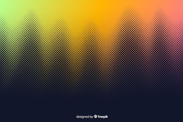 Fundo abstrato com efeito de meio-tom gradiente Vetor grátis